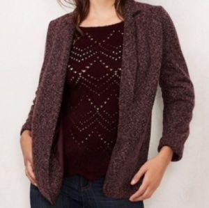 LC Lauren Conrad Relaxed Tweed Blazer